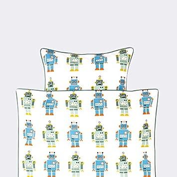Ferm Living Bettwäsche 140 X 200 Roboter Blau Amazonde Küche