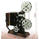 Christmas Gift, Mechanical Classical Movie Projector Music Box With Jewelry Box and Mirror