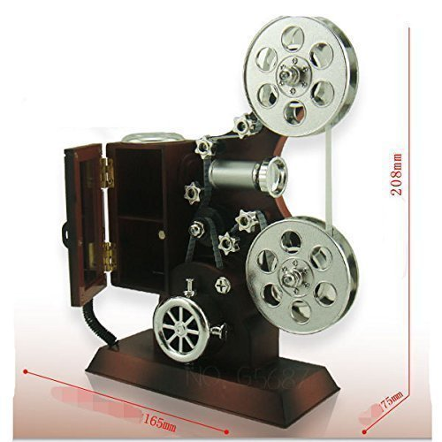 Christmas Gift, Mechanical Classical Movie Projector Music Box With Jewelry Box and Mirror by Eskyshop1