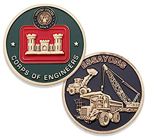 Army Corps of Engineers Challenge Coin - United States Army Essayons Challenge Coin - Amazing US Army Military Coin - Designed by Military Veterans! from Coins For Anything Inc