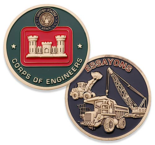 Coin Challenge Corps (Army Corps of Engineers Challenge Coin - United States Army Essayons Challenge Coin - Amazing US Army Military Coin - Designed by Military Veterans!)