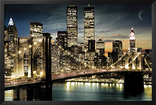 Manhattan Framed Poster 38 x 26in