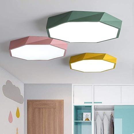 2018 Macaron color de techo de la lámpara LED de iluminación de la ...