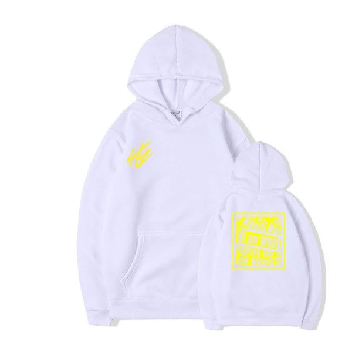 32bcf74f4 White White White FALCON_STORE Hoodies Men Women Hooded Boyfriend Style  Unisex Fleece Hooded Sweatshirt Coats 564f20