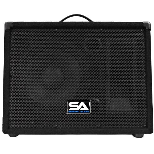 Seismic Audio - SA-10M.3 - Pro Audio 10 Inch 2-Way Floor Monitor Stage Speakers PA/DJ Church - 200 Watts by Seismic Audio