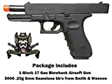 gas airsoft glock - Umarex Glock 17 Package Glock 17 Gas blowback airsoft pistol with 5000 .20g Smith & Wesson bb's