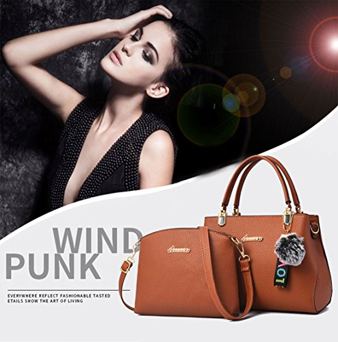 Handle Handbags Bags Body Leather Faux Bags Beige Bags Shoulder Top Women's Cross qXzwR6nZn