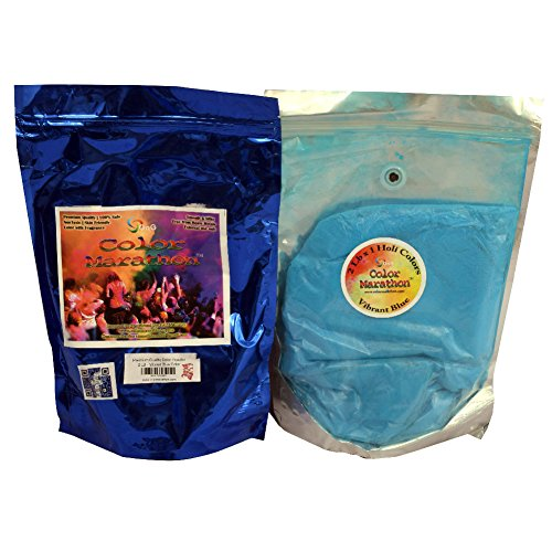ColorMarathon® Premium Quality Color Powder - 2 Lb Bags - Vibrant Blue Color