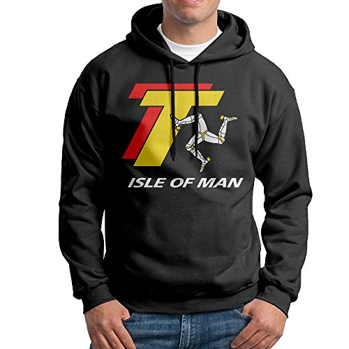 Grand Prix Hooded Sweatshirt - Edgechic TT Tourist Trophy ISLE of Man Men's Pullover Black Hooded Sweatshirt