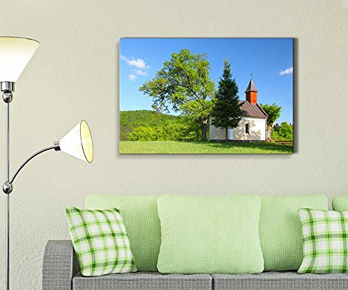 Beautiful Autumn Scenery Landcape with Chapel in Eastern Europe Wall Decor
