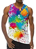 Goodstoworld Unisex 90s Dripping Paint Graffiti Racerback Tank Tops Graphic Design Cool Street Wear T Shirt Tees for Women Men,A3,US S - Asian M