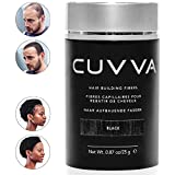CUVVA Hair Fibers - Hair Loss Concealer for Thinning Hair - Keratin Hair Building Fibers Will Instantly Make Thin Hair Look Thicker - 0.87oz - Black