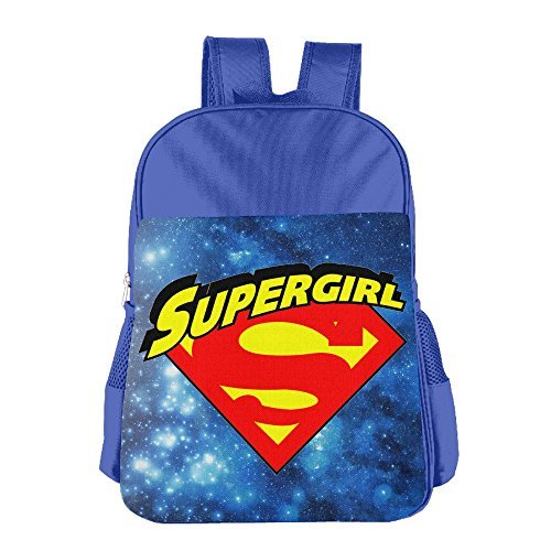 JXMD Custom Supergirl Kids School Bagpack Bag For 4-15 Years Old RoyalBlue
