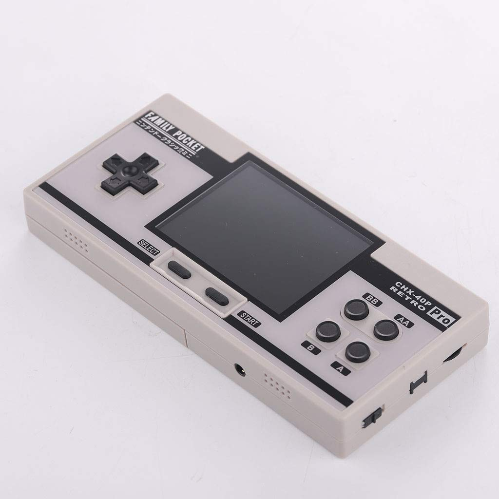 Basde Retro Handheld Classic Game Console, Mini Retro Handheld Game Console Portable Video Console Built-in 638 Classic FC Game Support 2 Player TV Output (White) by Basde (Image #2)
