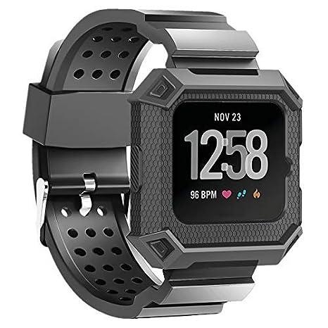 JIELIELE Fitbit Versa Reemplazo SmartWatch Band Correa de ...