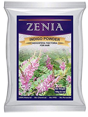 Zenia Indigo Powder Natural Black Hair Dye 2015 Crop