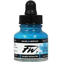 (White) - Daler - Rowney FW 29.5ml Acrylic Art Ink Bottle - White
