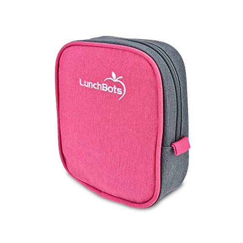 "Duo Lunchbots (LunchBots Classic Sleeve - Pink - Carrying Case for LunchBots Uno, Duo, Trio, Quad Classic 5"" x 6"" Containers)"
