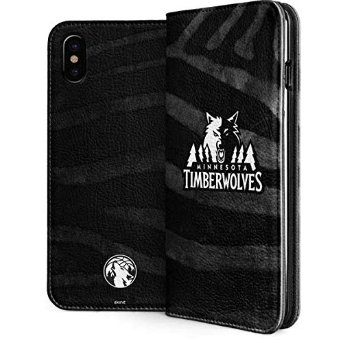 Minn. Timberwolves iPhone Xs Case - NBA | Skinit Folio Case - Faux-Leather Wallet iPhone Xs Cover