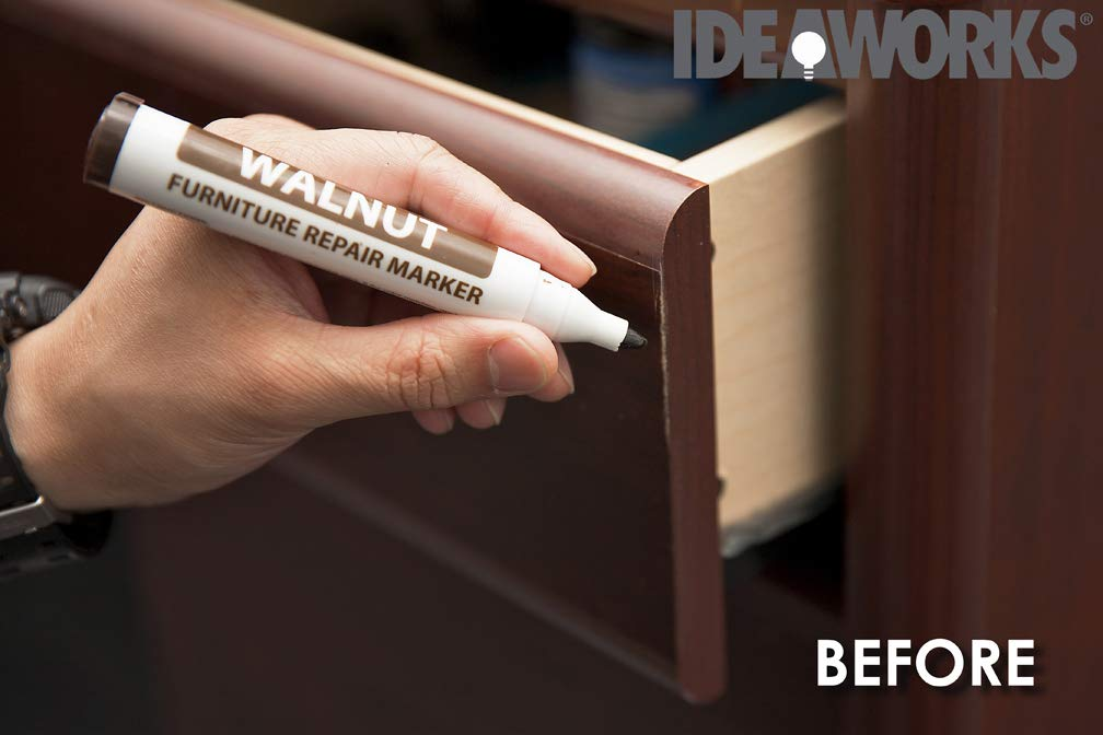 Beautyko 12-Piece Wood Touch-Up Markers and Wax Sticks for Repairing Scratches and Dings in Wood Furniture and Floors