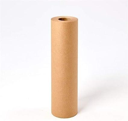Papel de regalo de papel kraft marrón, un solo rollo ...