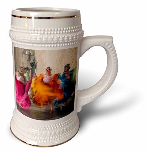 3dRose Danita Delimont - Oaxaca - Mexico, Oaxaca, Mexican Folk Dance 01 - 22oz Stein Mug (Abstract Dance Costumes)