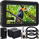 Atomos Shinobi 5.2'' 4K HDMI Monitor with Starter Accessory Bundle - Includes: 2X Extended Life NP-F975 L-Series Batteries with Charger, Standard, Mini & Micro HDMI Cables, Starter Cleaning Kit & More