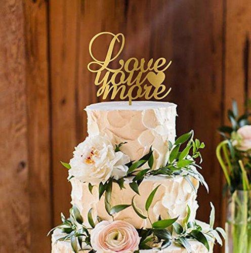Amazon love you more wedding cake topper rustic cake topper love you more wedding cake topper rustic cake topper mahogany cake topper wooden junglespirit Choice Image