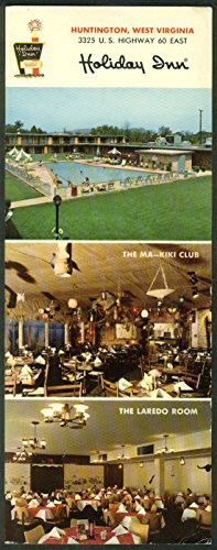 Holiday Inn Huntington WV 3-view long card 1960s reverse fully printed ()