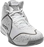 AND1 Men's Havok Basketball Shoe,Bright White/Bright White/Silver,US 10.5 M