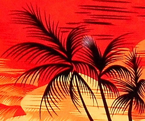 "Orange Beach Mens Hawaiian Shirt /""Evening on Hawaii/"" 100/% Cotton Palms 8XL S"