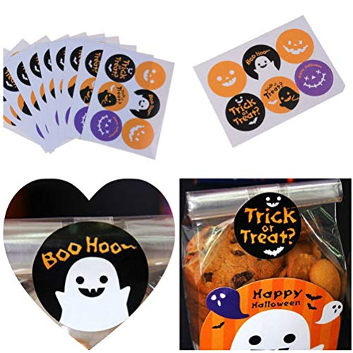 (Party Favors - 60pcs Lot Cookie Biscuits Gift Stickers Package Label Party Wedding Kraft Halloween Sticker Labels - Bubbles Yoyo Theme Cream Rainbow Elmo Noise Classroom Unisex Gumball)