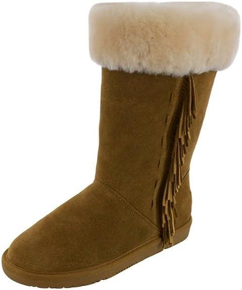 Minnetonka Womens Canyon Sheepskin Boot