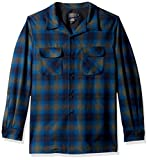Pendleton Men's Long Sleeve Fitted Board Shirt, Peacock Ombre-31961, XXL