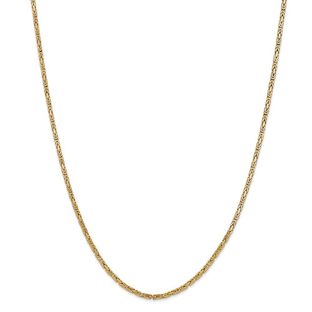 14K Yellow Gold 2mm Byzantine Chain by Jewels By Lux (Image #1)