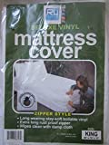 RL Plastics Deluxe Vinyl Zipper Style Mattress Cover, 80-Inch by 78-Inch by 10-Inch, King