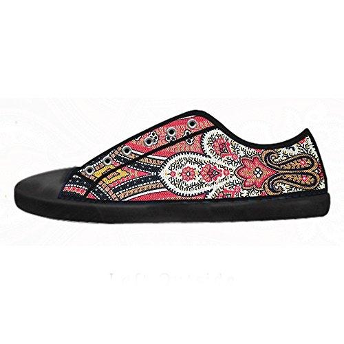 Custom paisley Mens Canvas shoes Schuhe Lace-up High-top Sneakers Segeltuchschuhe Leinwand-Schuh-Turnschuhe B