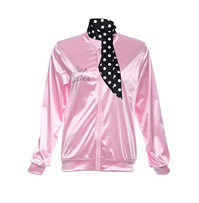 Fifties Womens Adult Pink Grease Sock Hop Costume Jacket