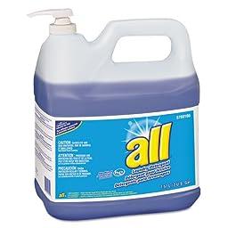 All Liquid Laundry Detergent, Original Scent, 2gal Pump Bottle - two bottles of laundry detergent.