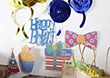 "30-Count Swirl Decorations -""Happy Bday"" Party"