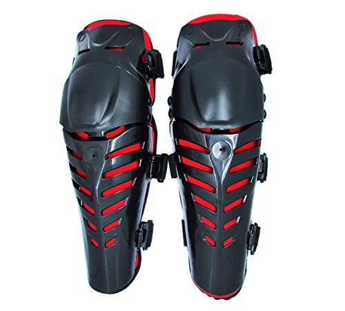 Motorcycle Racing Black Knee Shin Armor Gear Guard ATV Pro-Biker Motocross Body Guards Protection Pads For 2000 2001 2002 2003 2004 2005 2006 2007 2008 2009 2010 2011 Suzuki DRZ 400 S/SM (Leather Pads Pro Knee)
