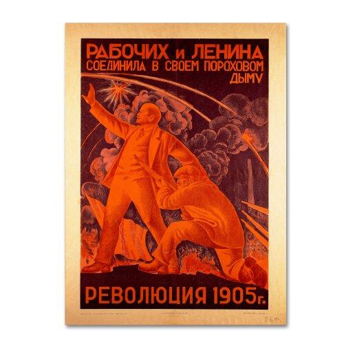 The Russian Revolution Artwork by Alexander Samokhvalov, 14 by 19-Inch Canvas Wall Art - Russian Propaganda Poster
