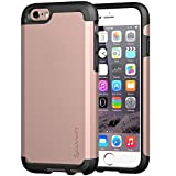 iPhone 6s Case Rose Gold, LUVVITT Ultra Armor NL Shock Absorbing Case Best Heavy Duty Dual Layer Tough Cover for iPhone 6 / iPhone 6s (4.7) Rose Gold