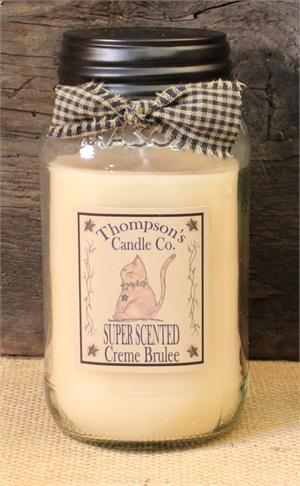 Creme Brulee Mason Jar Candles Large Jar ~ 25 fl oz (25 Oz Candle)
