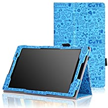 MoKo Lenovo Lenovo Tab S8-50 Case - Slim Folding Cover Case for Lenovo Tab S8-50 8 inch Android 4.4 Tablet, Cutie Charm BLUE
