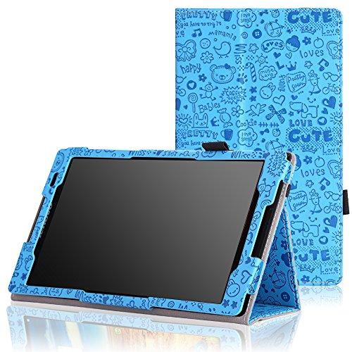 MoKo Lenovo Tab S8-50 Case - Slim Folding Cover Case for Lenovo Tab S8-50 8 inch Android 4.4 Tablet, Cutie Charm BLUE