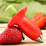 Kitchen Accessories - Red Strawberry Leaf Remover Tomato Stalks Fruit Knife Huller Stem Removal Portable - Cabinet Lime Paper Batman Clearance Oxo White Handmade Rack Ray
