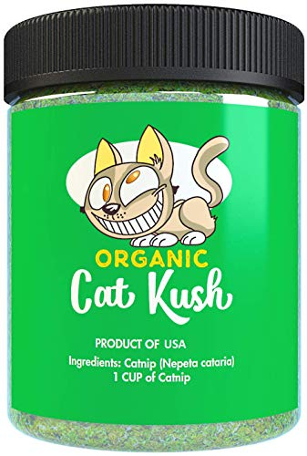 (Organic Catnip by Cat Kush, Safe Premium Blend Perfect for Cats, Instilled with Maximized Potency your Kitty is Guaranteed to Go Crazy for! (1 Cup))