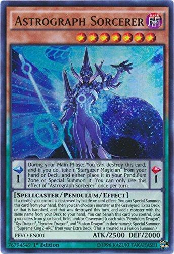Yugioh 1st Ed Astrograph Sorcerer PEVO-EN001 Ultra Rare 1st Edition Pendulum Evolution Cards