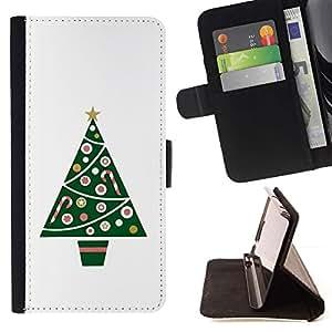 Momo Phone Case / Flip Funda de Cuero Case Cover - Árbol Minimalista Blanca Invierno - Samsung Galaxy S6 Edge Plus / S6 Edge+ G928